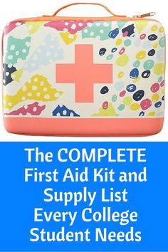This is a Printable of a Pharmacist mom's list of everything college students need when they get sick or hurt.