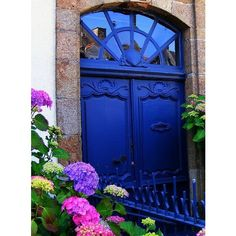 blue doors / ultramarine #doors ❤ liked on Polyvore featuring backgrounds, pictures, photos, doors and blue