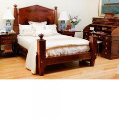 Antique Empire Bed in Mahogany, c. 1840