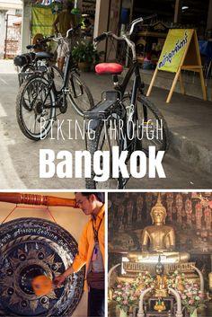 Eine Radtour durch Bangkok ist vielfältiger als man denkt. Man sieht verschiedene Viertel, überquert den Fluss und ist plötzlich im Dschungel. Wo Palmen wild wachsen und die Menschen einfacher leben. #reisen #thailand