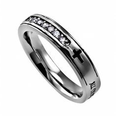 Spirit And Truth Jewelry 101674 Christ My Strength Regent Ring - Size 5, Women's, As Shown