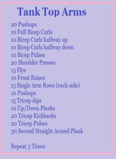 Live Fit and Run: Baseball Game & Tank Top Arms [Workout] - Fitness Fitness Workouts, Fitness Motivation, Easy Workouts, Fitness Diet, Health Fitness, Muscle Fitness, Crossfit Arm Workout, Arm Circuit Workout, Fitness Memes