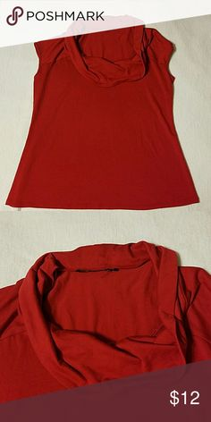 Cowl neck red sleeveless top Smooth fabric, flattering cowl neck, sleeveless for year-round wear. Tops Blouses