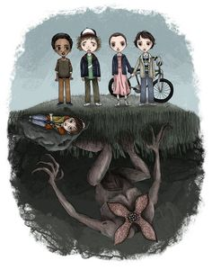 Stranger Things - Cool art by Sara Michaels.SEMillustrations Stranger Things - Cool art by Sara Michaels. Demogorgon Stranger Things, Stranger Things Upside Down, Stranger Things Aesthetic, Stranger App, Vexx Art, Illustration, Cool Art, Sketches, Animation
