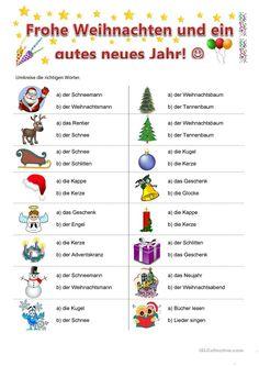 Weihnachten German Grammar, German Words, Vocabulary Games, Grammar And Vocabulary, Learn German, Learn English, German Resources, Deutsch Language, German Language Learning