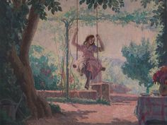 View Girl on a Swing by Jean-Pierre Julien on artnet. Browse upcoming and past auction lots by Jean-Pierre Julien. Child And Child, Some Image, Female Images, Romance, Pictures, Painting, Lighter, Goodies, Pastel