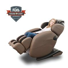 Space-Saving Zero-Gravity Full-Body Kahuna Massage Chair Recliner with yoga & heating therapy (Brown) Spa Chair, Massage Chair, Small Recliners, Good Massage, Chairs For Sale, Cool Chairs, Full Body, Zero, Space Saving