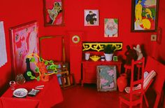 Matisse Room - Miniature Reconstructed Painting by Jane Freeman.