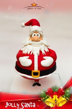 Jolly Santa is comming to town - Cake by Dirk Luchtmeijer