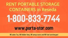 Rent Portable Storage Containers In Reseda, CA