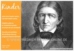 Poster A2 Friedrich Fröbel: Kinder nicht bewahren und belehren