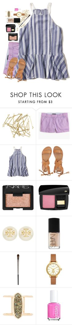 """""""Sometimes I Forget You're Gone"""" by southernstylish ❤ liked on Polyvore featuring H&M, J.Crew, Hollister Co., Billabong, NARS Cosmetics, Lancôme, Tory Burch, Urban Decay, Kendra Scott and Essie"""