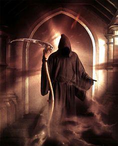 Les esprits aussi peuvent se venger - Prologue <br> Read Prologue from the story Les esprits aussi peuvent se venger by Dragonia- with 26 reads. Death Reaper, Grim Reaper Art, Don't Fear The Reaper, Dark Fantasy Art, Art Dark Souls, Reaper Tattoo, Skull Pictures, Dark Artwork, Bild Tattoos