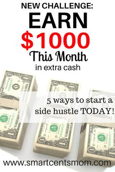 Are you looking for ways to earn extra cash? Check out this list of 5 ways me and my friends have earned extra cash as SAHMs!