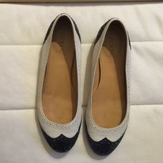 Spectator flats Glitter with black and cream flats J. Crew Shoes Flats & Loafers