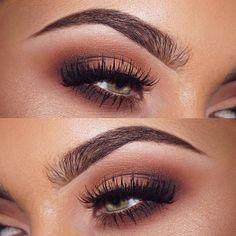 neutral brown smokey eye makeup @Jamie Genevieve