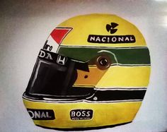 Ayrton Senna ♡ in gouche by Becca Brealy