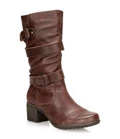 ARTICA brown heeled medium-height boots