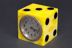 "Catalin Bakelite New Haven ""Dice"" Clock - Incredibly Bright"