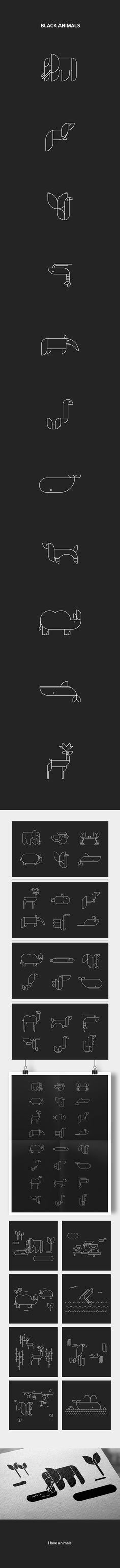 BLACK ANIMALS on Behance