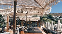 bali Hellenic Aesthetic's Picks: Seaside in Mykonos — Hellenic Aesthetic Best Hammock With Stand, Hammock Stand, Joshua Tree Hotel, Ibiza, Bali, Float Your Boat, Beach Bars, British Colonial, Greece Travel