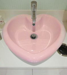 sink, heart shaped, pink sink, heart sink, bathroom, audrey kitching, weekly inspirations