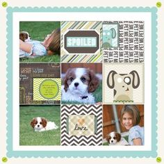 Fluffy & Fido Digital #Scrapbooking Layout from Creative Memories    http://www.creativememories.com