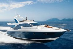 Tour the 2019 Azimut 50 Flybridge Yacht Bateau Yacht, Azimut Yachts, Sailboat Interior, Yacht Interior, Yacht Party, Lower Deck, Private Yacht, South Beach Miami, Yacht Boat