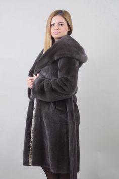 Burgunzinski Mink fur coat Full Skin Hooded /Wedding,or anniversary SAGA MEXA | eBay