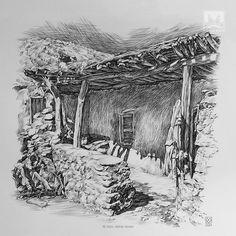AFSHIN AMINI ART STUDIO | #AfshinAminiArt #PenAndInkDrawing #Sketchbook #Art #Drawing #Sketching #PenDrawing #InkDrawing Ink Pen Drawings, Village Houses, Drawing Techniques, Ink Art, Art Lessons, Sketching, Studio, Architecture, Art Ideas