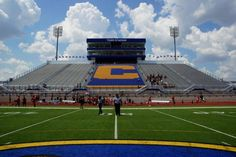 Well, if you've followed us for long, you know we love showing off the stadiums where we travel, and, this is Corsicana High School's beautiful Tiger Stadium which opened eight years ago. It is also the home of the Navarro College Bulldogs of the National Junior College Athletic Association. Recently College Football America publisher Kendall Webb and Director of Editorial Content Chuck Cox toured the stadium before the Bulldogs' 2013 season opener.