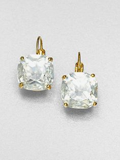 Jewelry Diamond : Faceted Square Earrings