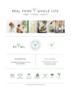 New Brand + Website Design for Real Food Whole Life