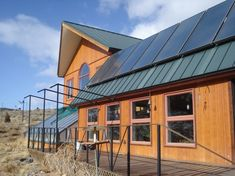 Solar panels, greenhouse, and southern facing windows make an efficient house. Wouldn't it be cool not to have to pay electric/gas companies!
