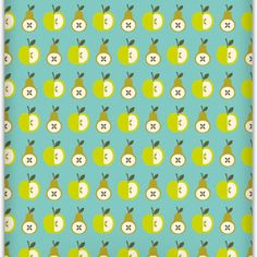Apples and pears wallpaper - kiddos. Love this for one of the kid's bathroom walls