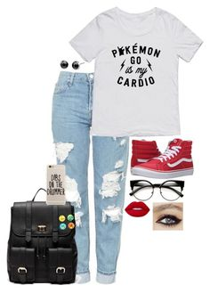 """""""// p o k e m o n //"""" by haymay2000 on Polyvore featuring Topshop, Sole Society, Vans, Loungefly and Lime Crime"""