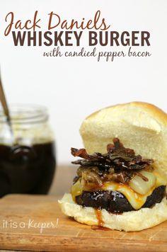 Jack Daniels Whiskey Burger