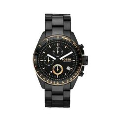 Fossil Men's Black Stainless Steel Bracelet Black Analog Dial Chronograph Watch - - The Analog Chronograph Watch from Fossil is the perfect way to stay punctual. From timeless classics to the Watches For Young Men, Fossil Watches For Men, Wrist Watches, Unique Watches, Men's Watches, Vintage Watches, Black Stainless Steel, Stainless Steel Watch, Stainless Steel Bracelet