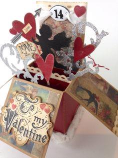 Stamptramp: To My Valentine - Pop-Up Box Card http://shellyhickox.blogspot.com/2014/02/to-my-valentine-pop-up-box-card.html