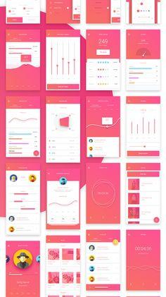 ピンク系ならこんな色 グラデーションかかってると先進的な雰囲気もでて、可愛すぎなくてよい
