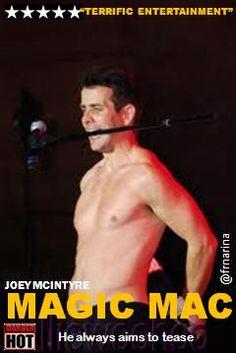 "joey mcintyre as ""Magic Mac"""