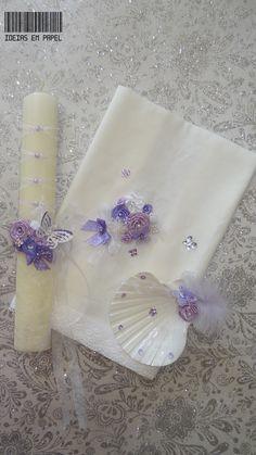 Conjunto Batismo Madalena Borboletas em lilás