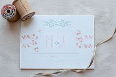 Birds and Banner Custom Monograms: This beautiful  monogram  is elegant and simple. You can include the initials of you and your fiancé as well as the date of your wedding!  Source: Wedding Chicks