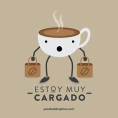 #Cafecito y cargado★ ;-) Literal