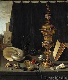 Pieter Claesz - Stilleben mit hohem goldenen Pokal