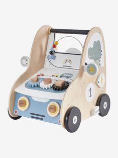 Chariot de marche avec freins voiture en bois FSC multicolore - 😍Découvrir ici - #premierage #Chariotdemarche #Jouet #Vertbaudet #Jouets #enfants #bébé #bebe Toddler Bed, Furniture, Home Decor, Wooden Car, Baby Arrival, Children, Walking, Toys, Gaming