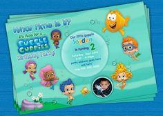 Bubble guppies invite