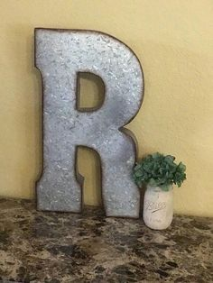 20 Inch Galvanized Metal Letters These Are Super Large Metal Lettersthey Stand 20 Inches Tall And