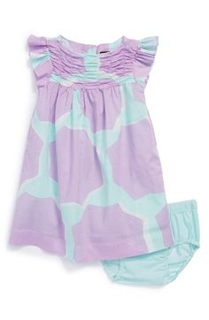 Tea Collection 'Star Flower' Flutter Sleeve Dress & Bloomers (Baby Girls) available at #Nordstrom