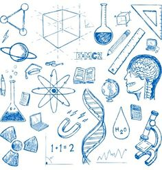 Sciences doodles icons sketch set vector by hugolacasse on VectorStock®
